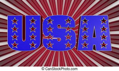 drapeau, couleurs, mot, américain, usa