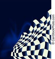 drapeau, course, conception, fond, checkered