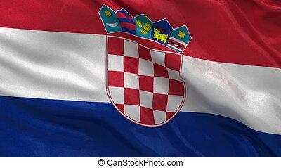 drapeau, croatie, seamless, boucle