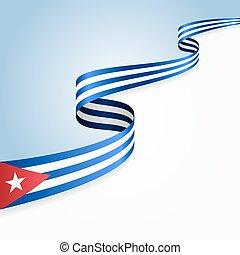drapeau cubain, arrière-plan.