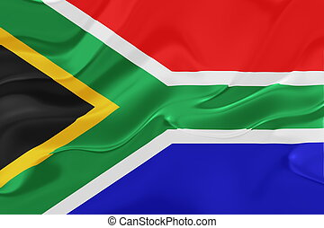 drapeau, de, afrique sud, ondulé