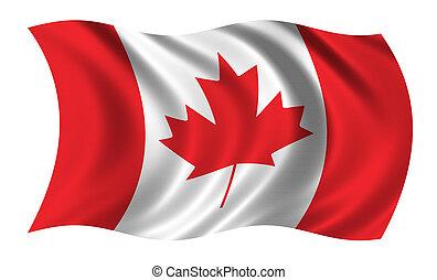 drapeau, de, canada
