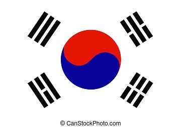 drapeau, de, corée sud