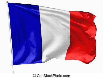 drapeau, de, france, sur, mât