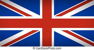 drapeau, de, les, uni, kingdom.