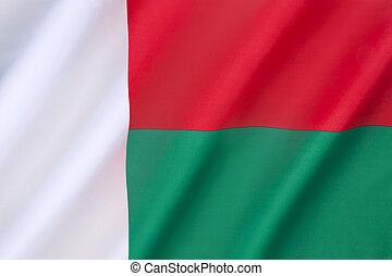 drapeau, de, madagascar