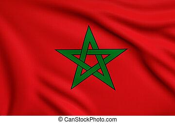 Maroc drapeau via famille alaouite muhammad ali - Drapeau du maroc a imprimer ...