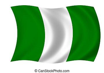 drapeau, de, nigeria