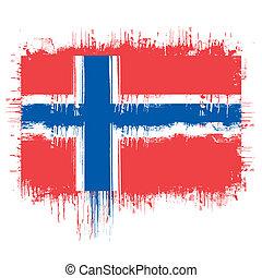 drapeau, de, norvège