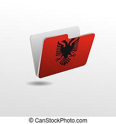 drapeau, dossier, albanie, image