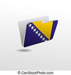 drapeau, dossier, bosnie, image