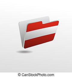 drapeau, dossier, image, autriche