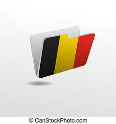 drapeau, dossier, image, belgique