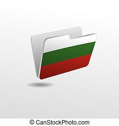 drapeau, dossier, image, bulgarie