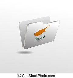drapeau, dossier, image, chypre