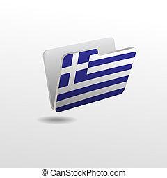 drapeau, dossier, image, grèce