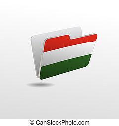 drapeau, dossier, image, hongrie
