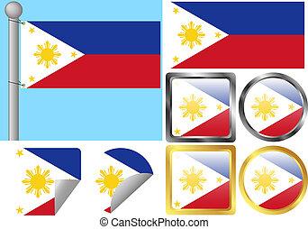 drapeau, ensemble, philippines