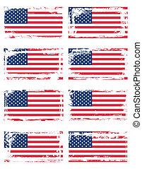 drapeau, ensemble, usa