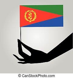drapeau eritrea, main