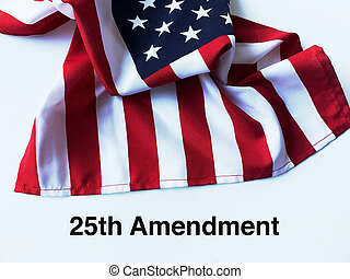 drapeau etats-unis, 25e, mots, amendement