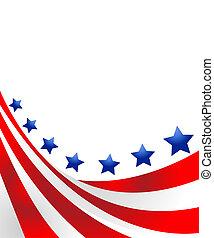 drapeau etats-unis, dans, style