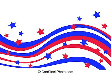 drapeau etats-unis, dans, style, vecteur