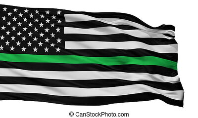 drapeau etats-unis, isolé, seamless, vert, ligne mince,...