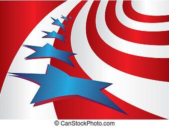 drapeau etats-unis, style