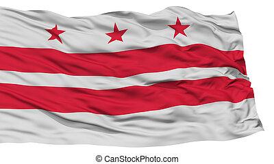 drapeau etats-unis, washington, isolé, dc, état