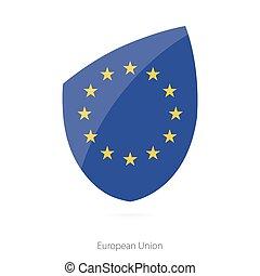 drapeau, européen, union.