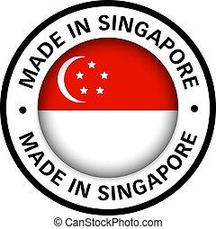 drapeau, fait, singapour, icône
