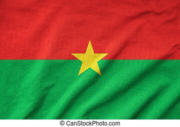 drapeau, faso burkina, a froissé