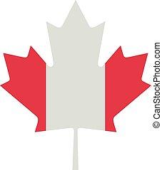 drapeau, feuille, érable, canadien