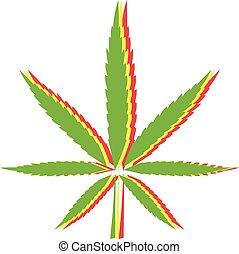 drapeau, feuille, marijuana, rasta, signe