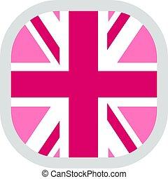 drapeau, fierté, carrée, arrondi, lgbt