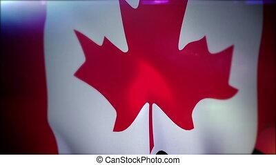 """drapeau, """"fluttering, slo-mo"""", canadien"""