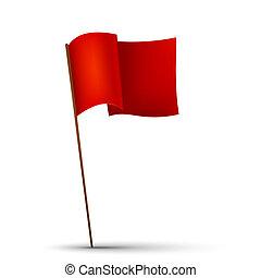 drapeau, fond blanc, rouges
