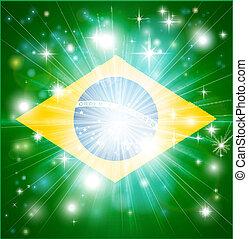drapeau, fond, brésilien