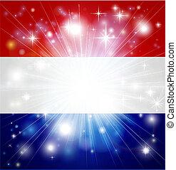 drapeau, fond, hollandais