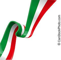 drapeau, fond, italien