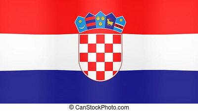 drapeau, fond, onduler, croatie, faire boucle