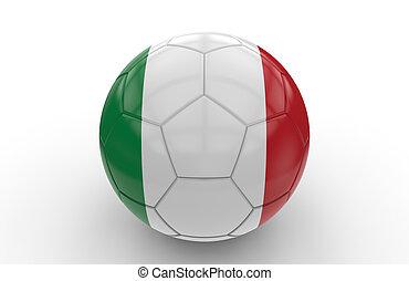 drapeau, football, balle, italien