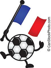 drapeau, football