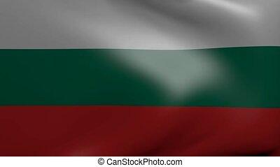 drapeau, fort, vent, bulgarie