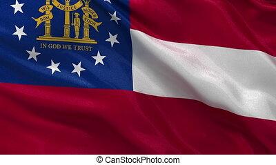 drapeau, géorgie etat, nous, boucle