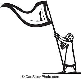 drapeau, girl