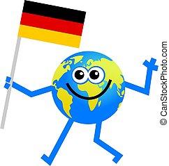 drapeau, globe