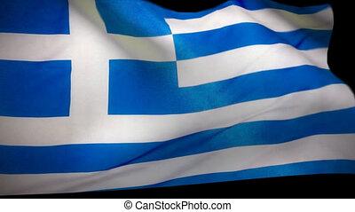 drapeau grec, essuie-glace, grèce