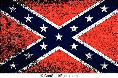 drapeau, grunge, confédéré